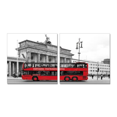 Home Etc YoungOnes Bus 2 Piece Photographic Print Set