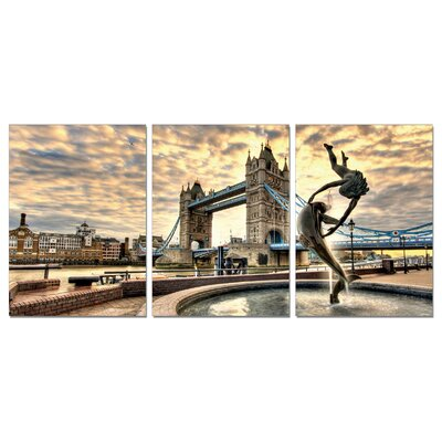 Home Etc YoungOnes Tower Bridge London 3 Piece Photographic Print Set