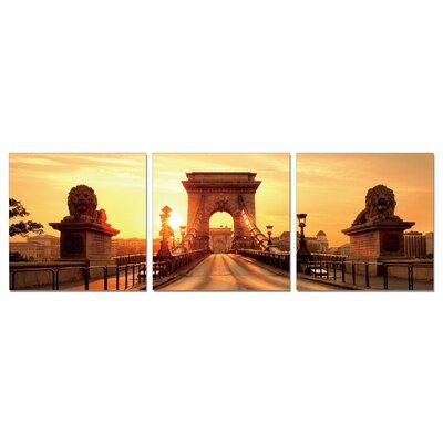 Home Etc YoungOnes Chain Bridge Budapest 3 Piece Photographic Print Set