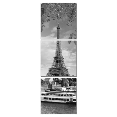 Home Etc YoungOnes Eiffel Tower 3 Piece Photographic Print Set