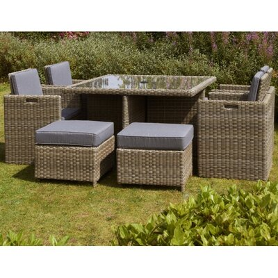 Home Etc Royalcraft Wellington 8 Seater Dining Set with Cushions