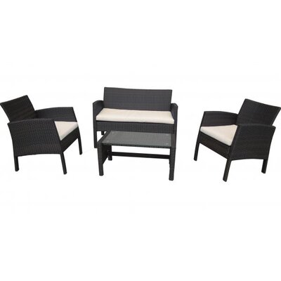 Home Etc Royalcraft Bordeaux 4 Piece Dining Set with Cushions