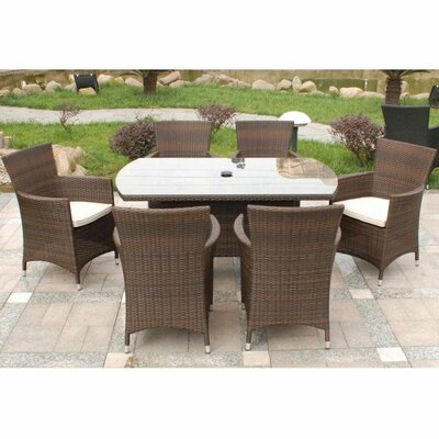Home Etc Royalcraft Bordeaux 6 Seater Dining Set with Cushions