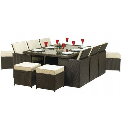 Home Etc Royalcraft Bordeaux 10 Seater Dining Set with Cushions