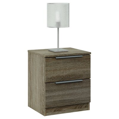 Home Etc Grimma 2 Drawer Bedside Table