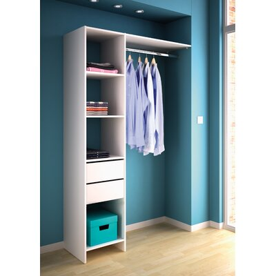 Home Etc Hausen Duo Clothes Rail and Shelf Combination