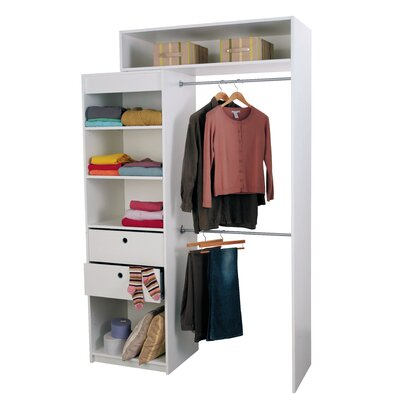 Home Etc Hausen Extensible Clothes Rail and Shelf Combination