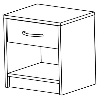 Home Etc Lech 1 Drawer Bedside Table