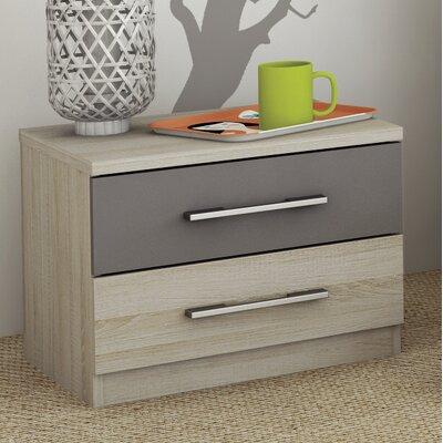Home Etc Hoven 2 Drawer Bedside Table
