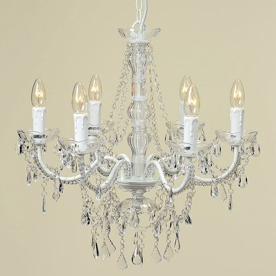 Home Etc Aimee 6 Light Crystal Chandelier