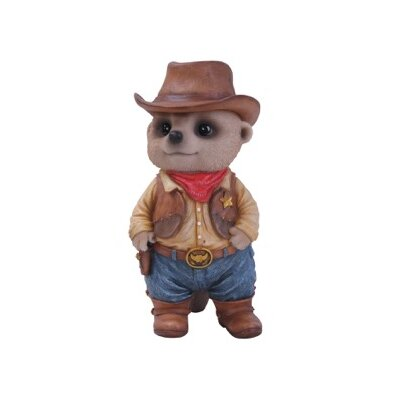 Home Etc Dressed Up Baby Meerkat Cowboy Statue