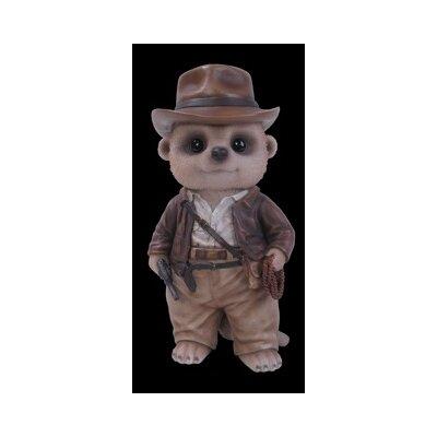 Home Etc Dressed Up Baby Meerkat Explorer Statue