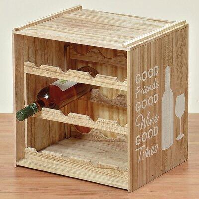 Home Etc Noir 12 Bottle Wine Rack