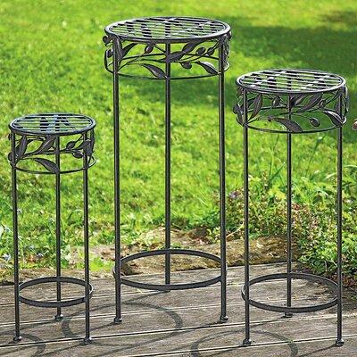 Home Etc Rhodes 3 Piece Round Planter Table Set