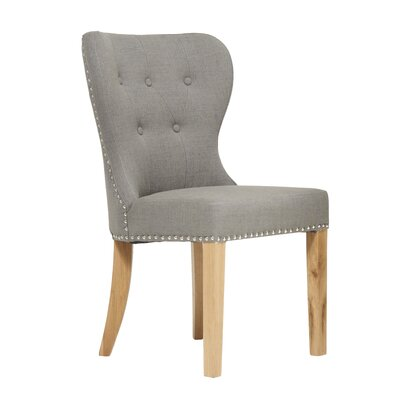 Home Etc Clematis Solid Oak Upholstered Dining Chair