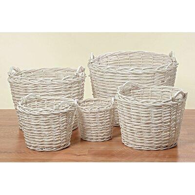 Home Etc 5 Piece Basket Set with Round Handle