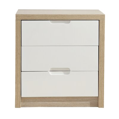 Home Etc Anna 3 Drawer Bedside Table