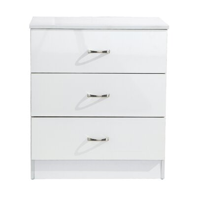 Home Etc Kaiden 3 Drawer Chest of Drawers
