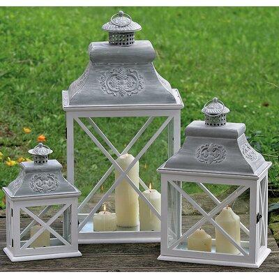 Home Etc Hull 3 Piece Pinewood Lantern Set