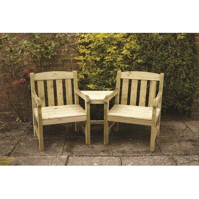 Home Etc Mangart Wooden Love Seat
