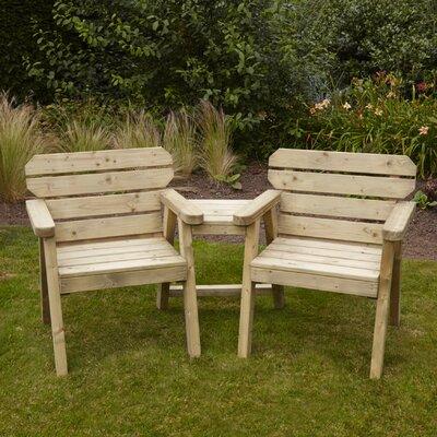 Home Etc Jalovec Wooden Love Seat