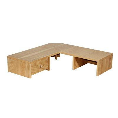 Home Etc Oakwood 16cm H x 75cm W Desk Hutch