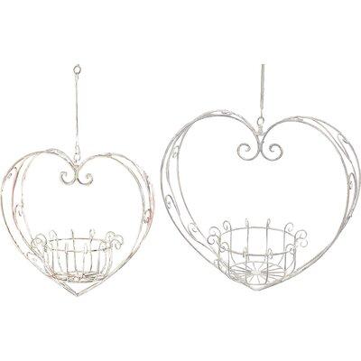 Home Etc Heart 2-Piece Heart-Shaped Hanging Basket Set