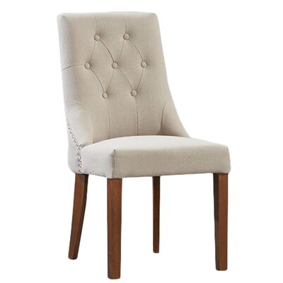 Home Etc Maryknoll Solid Oak Upholstered Dining Chair