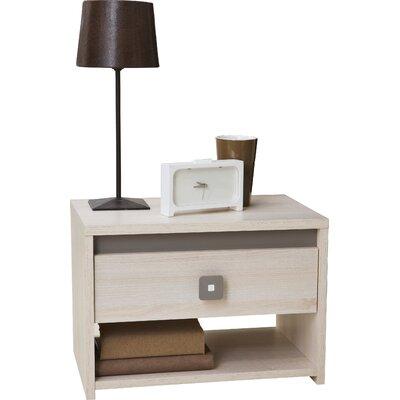 Home Etc Dinkel 1 Drawer Bedside Table
