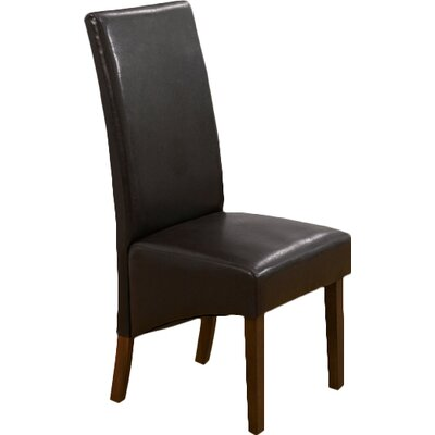 Home Etc Solid Walnut Upholstered Dining Chair