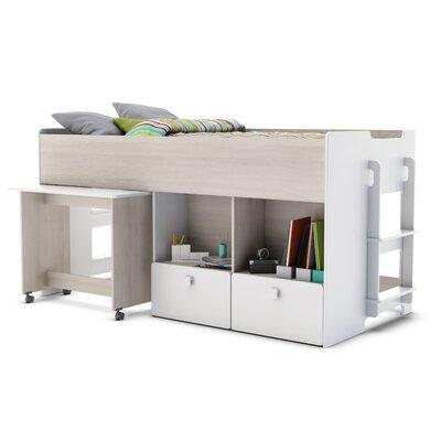 Home Etc European Single Mid Sleeper Bed with Storage