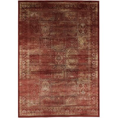 Home Etc Vinulermus Red/Gold Area Rug