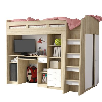 Home Etc Single High Sleeper Bed with Storage