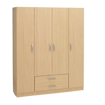 Home Etc Gaviota 4 Door Wardrobe