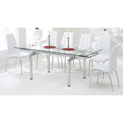 Home Etc Andaman Extendable Dining Table and 6 Chairs
