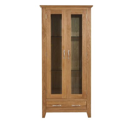 Home Etc Emerald Solid Oak Display Cabinet