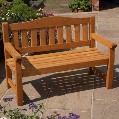 Home Etc Kanin 2 Seater Wooden Bench