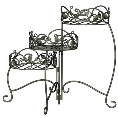 Home Etc Scroll and Ivy 3 Tier Foldable Plant Stand