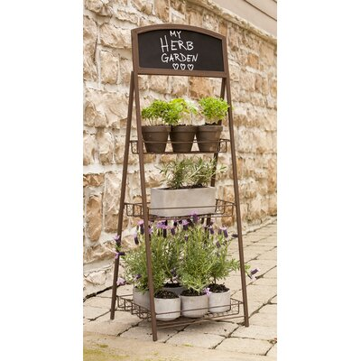 Home Etc 3 Tier Folding Chalkboard Plant Stand