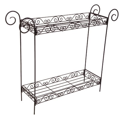 Home Etc Scroll 2 Tier Plant Stand