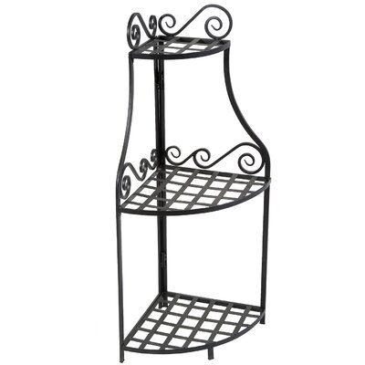 Home Etc Forged Corner 3 Tier Plant Stand