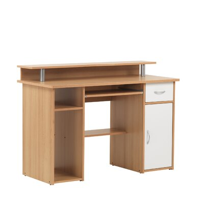 Home Etc Maxam Computer Desk with Keyboard Tray with 1 Drawer