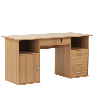 Home Etc Dallas Computer Desk with Locking Drawer