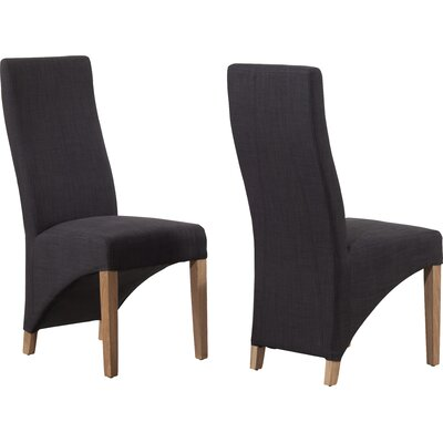 Home Etc Tarpeena Solid Oak Upholstered Dining Chair