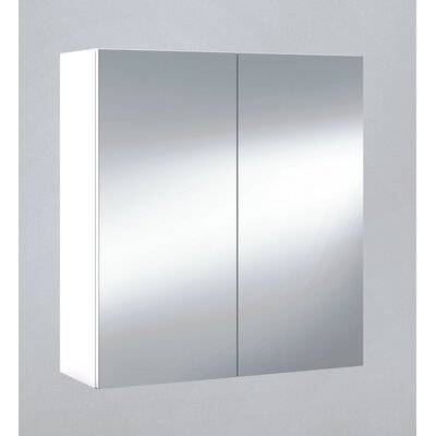 Home Etc 60cm x 65cm Surface Mount Flat Mirror Cabinet