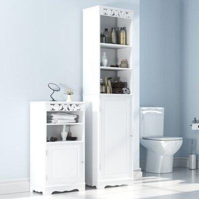 Home Etc Kandos 40 x 169.5cm Free Standing Tall Bathroom Cabinet