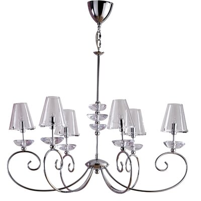 Home Etc Bronte 6 Light Candle Chandelier