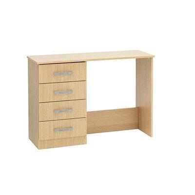 Home Etc Gaviota 4 Drawer Single Pedestal Dressing Table