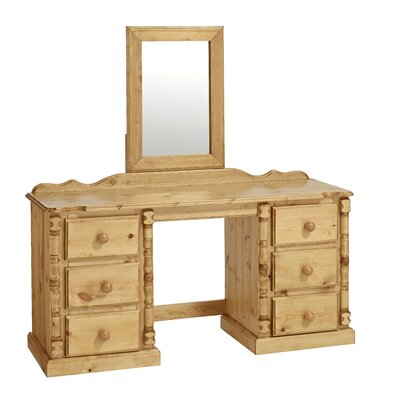 Home Etc Ecuestre 6 Drawer Double Dressing Table with Mirror