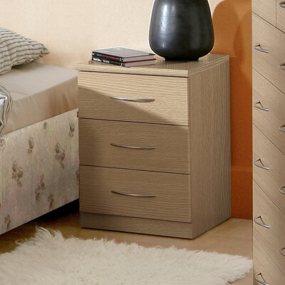 Home Etc Suey 3 Drawer Bedside Table